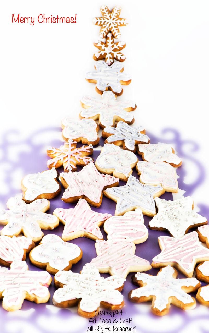 Biscotti Decorati Per Albero Di Natale.Biscotti Decorati Per L Albero Di Natale E Auguri Angela De Santis