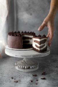Zebra Cheescake vaniglia cioccolato